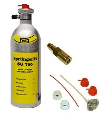Preisvergleich Produktbild Wiederbefüllbare Druckluft Spraydose / Sprühdose 500 ml mit Sprühköpfen und Füllstutzen