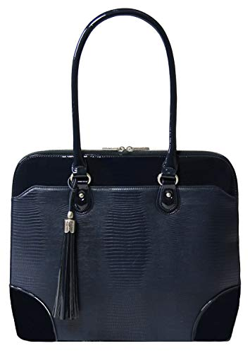 Handgefertigte Designer-handtaschen (BFB Laptop Tragetaschen für Frauen-33cm Laptop-Umhängetasche-Designer Handgefertigte Handtasche-Qualität, DASS 's Made to Last blau Navy)
