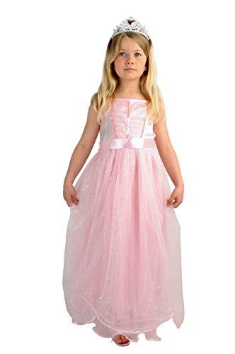 Upyaa-430021-Princesse-Clara-Avec-Jupon-Et-Diadme-En-Housse-Luxe-5-7-Ans-Rose