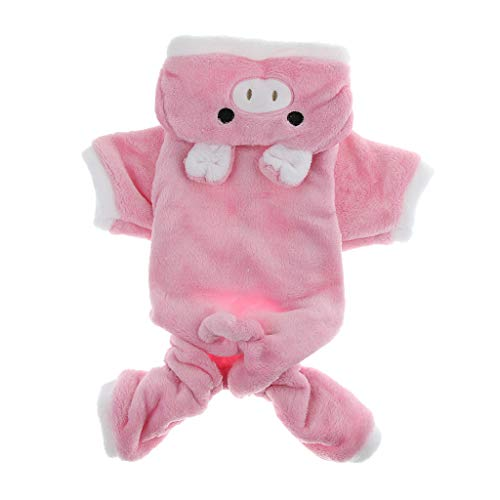 Für Hunde Schwein Kostüm - Homyl Niedliche Tierform Hundemantel Hundejacke Hundepullover Hunde Cosplay Kostüm für Weihnachten Party - Schwein, XL