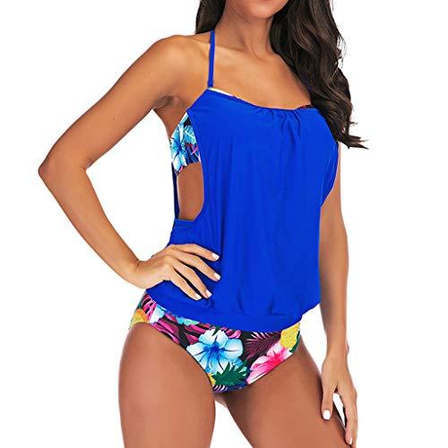 Asalinao Swimwear Tankini Set Women\'s Ruched Swimsuit Push Up with Straps Oversize Good Elastic S-5XL