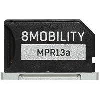 8MOBILITY iSlice Aluminium Micro SD Speicher Adapter für MacBook Retina 13 inch A1425 und A1502 (Silber)