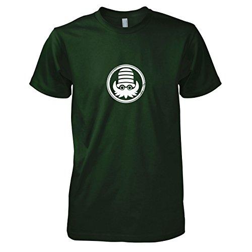 l Kult - Herren T-Shirt, Größe XXL, flaschengrün (Pokemon Alpha Saphir Pikachu Kostüme)