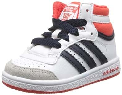 adidas Originals Topten Hi I, Baskets mode mixte bébé - Blanc (White/Hi-Res Red/Legend Ink), 19 EU