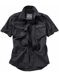 Surplus Raw Vintage manga corta camisa Negro Tamaño L