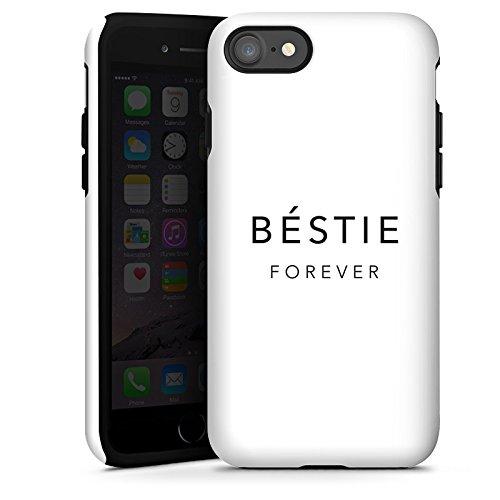 Apple iPhone X Silikon Hülle Case Schutzhülle Sprüche Freundschaft Luxus Bestie Tough Case glänzend