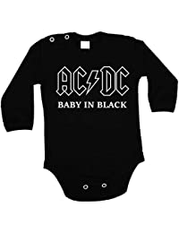 7226d3641370 Baby Body AC-DC Baby in Black ACDC AC DC AC DC Langarm