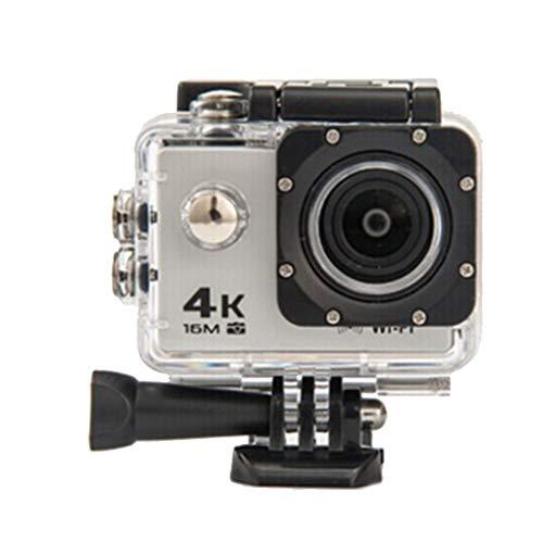 shangjunol Durable ABS Action Camera Ultra HD 4K subacquea impermeabile del casco di registrazione video Telecamere Sport Cam argento