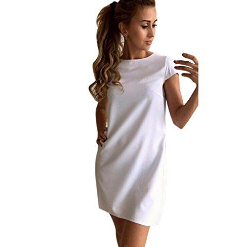 Sommer Amlaiworld Damen baumwoll elegant t-shirt kleider weich Freizeit Kurz Kleid für das Geschäft party (L, (Kostüme Chinesische Prinzessin)