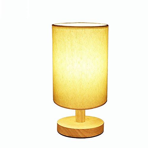 Petite lampe de table chambre bois lit chaud nuit lumière bois massif décoratifs petits cadeaux