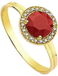 Goldring mit stein  Suchergebnis auf Amazon.de für: Roter Stein - Gelbgold: Schmuck