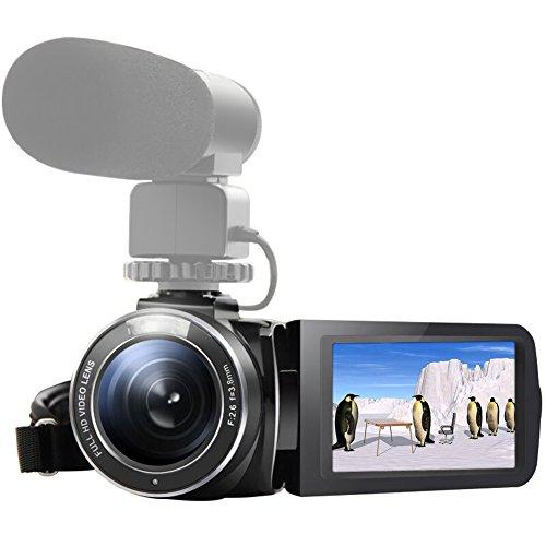 "SEREE Camcorder Kamera HDV-520 WIFI Mit Externes Mikrofon Klinke Eingang FHD 1080p 24.0MP 3.0 ""Bildschirm 16X Digital Zoom Video Recorder"
