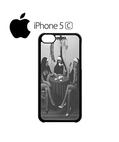 Nuns Naked Playing Card Smoking Funny Hipster Swag Mobile Phone Case Back Cover Hülle Weiß Schwarz for iPhone 5c White Weiß