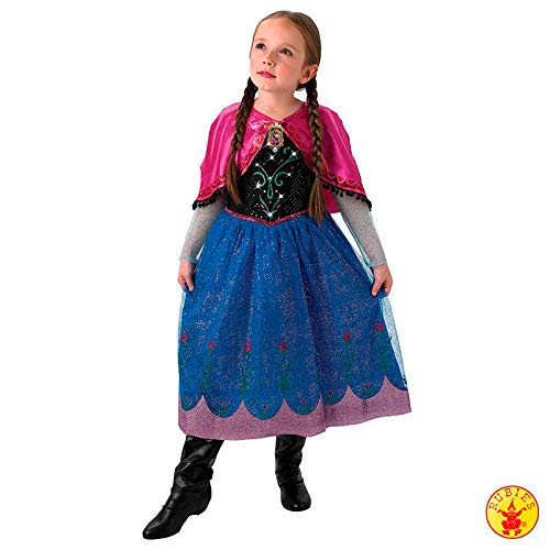 Rubie's 3610366 - Anna Frozen Musical - Light up Dress - Child, Verkleiden und Kostüme, M (Light Up Kostüm Zubehör)