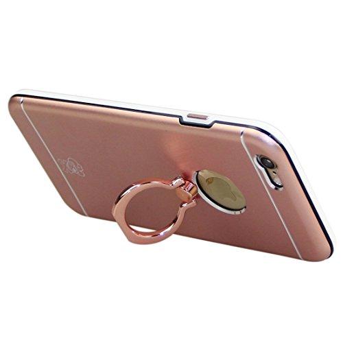 Wkae Case Cover Enkay für iPhone 6 &6s Hat-Prince-Magnesium-Legierung + PC + TPU Kombitasche mit Ring Halter Ständer ( Color : Rose Gold ) Rose Gold