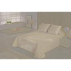 SABANALIA - Colcha Niza (Disponible en Varios Tamaños y Colores), Cama 90-180 x 280, Blanco