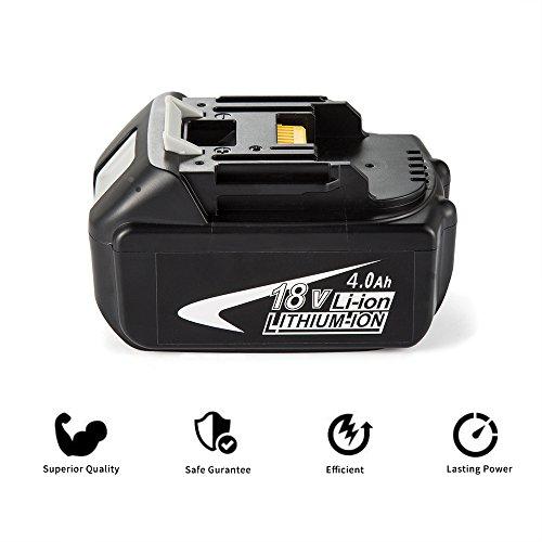 Preisvergleich Produktbild 18V 4.0Ah Li-Ion Werkzeugakku Batterie, Coolife Werkzeugakkus für Akkuschrauber BL1840 BL1830 BL1850 4.0 Ah
