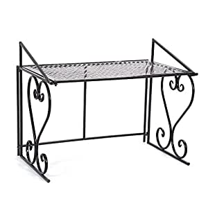 ebtools regal aus metall f r mikrowelle faltbar regal. Black Bedroom Furniture Sets. Home Design Ideas