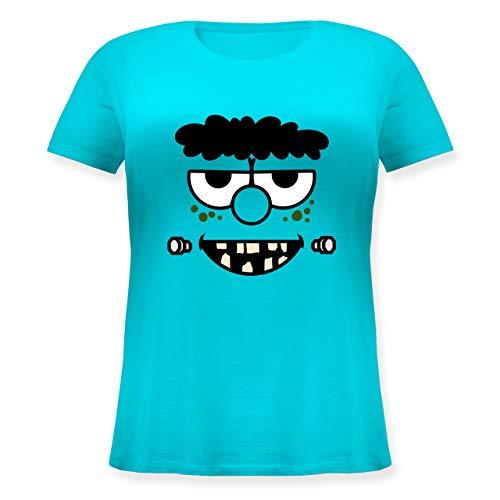 Karneval & Fasching - Frankensteins Monster - Karneval Kostüm - S (44) - Hellblau - JHK601 - Lockeres Damen-Shirt in großen Größen mit (Kid Frankenstein Kostüm)