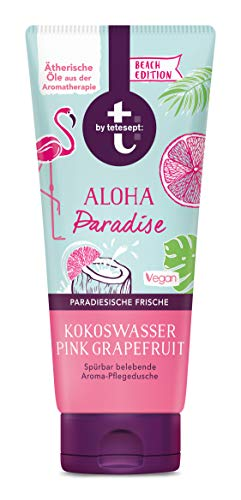 t: by tetesept Aroma-Dusche Aloha Paradise, Duschgel mit exotischer Duftkomposition nach Pink Grapefruit und Kokoswasser - Pflegedusche vegan - 1er Pack (1 x 200 ml)