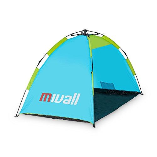 Mivall Automatik Strandmuschel - schnell aufzubauendes Strandzelt 195x120x110cm
