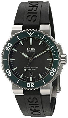 Oris hombre 73376534137rs pantalla analógica Swiss–Reloj automático negro