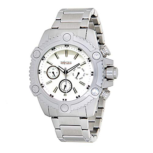 Nautec No Limit Mens Multi dial Quartz Watch with Stainless Steel Strap COUSD-QZ ST-WH