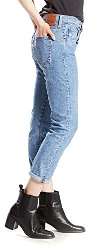 Levi's Damen Jeans 501 Tapered Boyfriend Fit Amazon Exclusive Blau