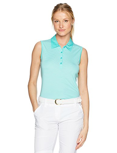 EP Pro Golf Damen Ärmellos Stripe Jersey Polo, Damen, Refresh -