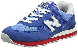 New Balance Herren ML574 D Sneaker, Blau Blue/Red/white), 44 EU