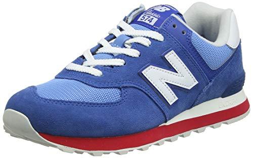New Balance Herren ML574 D Sneaker, Blau Blue/Red/white), 42 EU