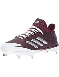 6509fda8a1 Adidas Hombres Adizero Afterburner 4 Bajos & Medios Cordon Zapatos para  Béisbol, Maroon, Silver