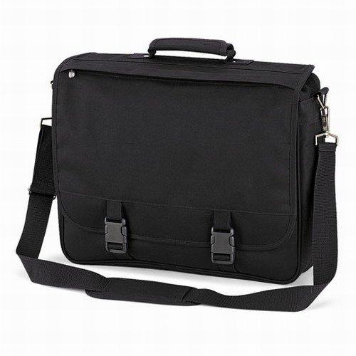Quadra portfolio briefcase in Schwarz (Polyester-messenger-portfolio)