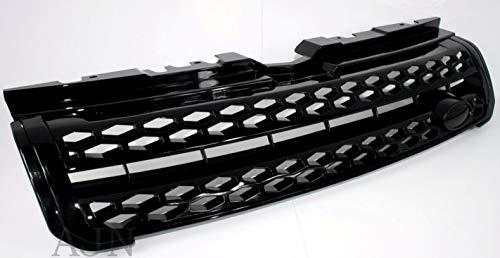 Zunsport Kompatibel mit Range Rover Evoque Dynamic, Java Schwarz, glänzend, Frontgrill-Upgrade (2011-2018)