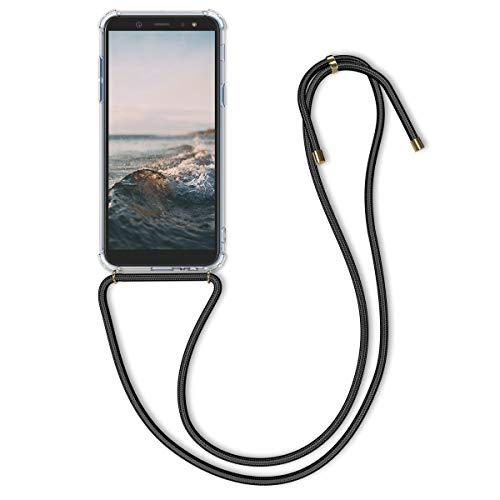 kwmobile Samsung Galaxy A6 (2018) Hülle - mit Kordel zum Umhängen - Silikon Handy Schutzhülle für Samsung Galaxy A6 (2018)