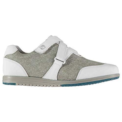 Footjoy Casual da Donna Golf Scarpe Bianche/Grigio Senza Chiodi Scarpe Sportive Calzature - Bianco, 38 EU