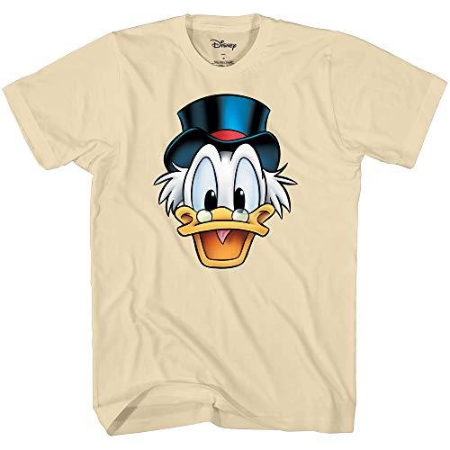 Disney Ducktales Onkel Scrooge McDuck Big Face Kostüm T-Shirt - weiß - ()