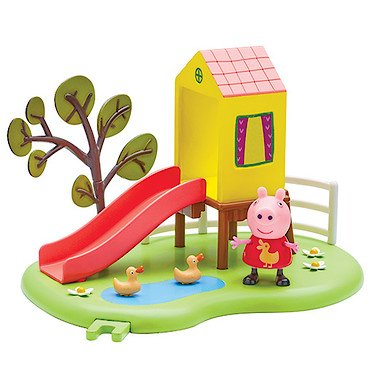 Peppa Pig - Le Toboggan de Peppa - Décor + 1 Mini Figurine