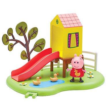 Peppa Pig – Le Toboggan de Peppa – Décor + 1 Mini Figurine