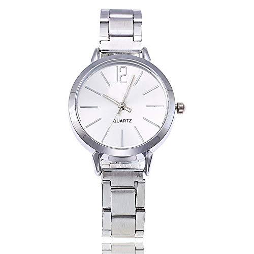 Liandd Art- und Weisedamen-Armbanduhren beiläufige Goldsplitter-Quarz-Edelstahl-Borduhr-Uhr,Silver