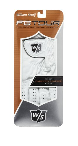 Wilson Staff Herren Golfhandschuh W/S FG TOUR LH, white, XL