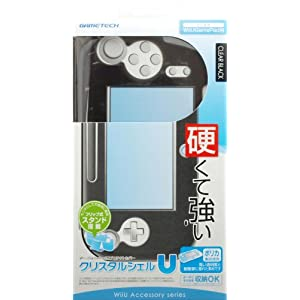 WiiU用ゲームパッド保護カバー『クリスタルシェルU クリアブラック』