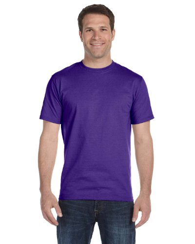 Hanes 5.2 OZ. ComfortSoft Cotton T-Shirt (5280) Pack of 14 Purple