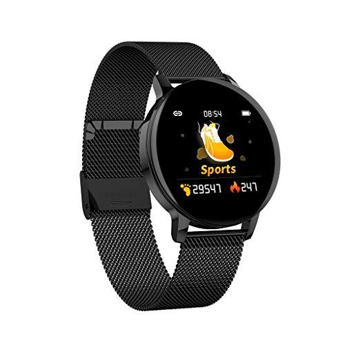 Fitness Smartwatch Wasserdichter IP67, Elospy Sport Uhr Aktivitäts-Gesundheits Tracker mit Herzfrequenz Blutdruckmessgerät, Schlafüberwachung Fitness Armband für Android/IOS Musiksteuerung