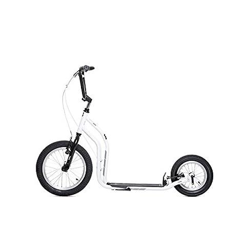 yedoo Blanc–Noir Trottinette–Kick Bike–vient avec pneus à air pour adulte jusqu'à 120kg Scooter de 12ans teilmontiert dans le