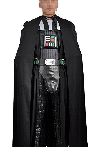 Imagen de 2016película star wars darth vader disfraz de versión cosplay personalizado negro para adulto halloween sin casco