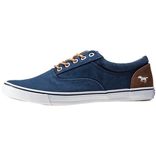 Mustang Herren Canvas Sneaker Blau Blau (dunkelblau 800)
