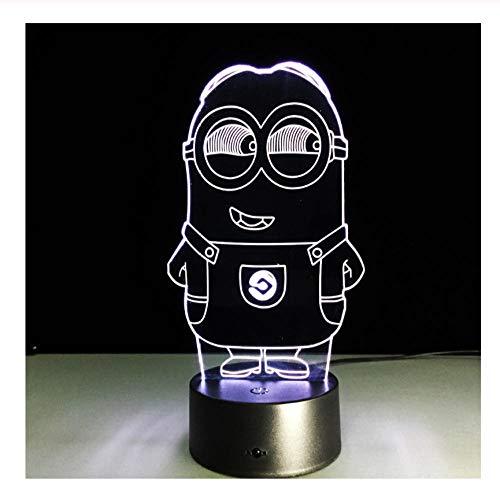 Neuheit 3D Minions Nachtlicht LED Tischlampe Touch Schreibtisch Beleuchtung Bunte Für Kind Baby Geschenk Geburtstagsfeier Schlafzimmer Wohnkultur