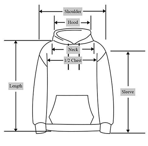 YuanYan Damen Herbst 3D Druck Motiv Pullover Kapuzenpullover Hoodie Kaputzen Pullover Sweatshirt Hooded Sweat mit Muster W080