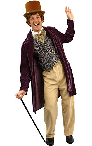 Schokoladen Mann Kostüm Karneval Fasching Herren Verkleidung (Wonka Kostüm Willy)